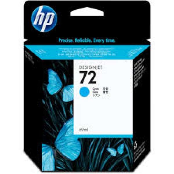 HP No. 72 Ink Cartridge Cyan - 69ml