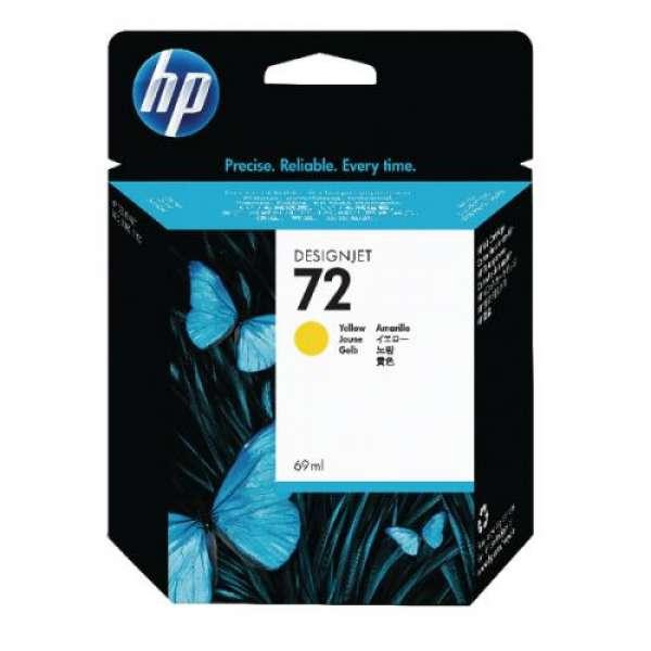 HP No. 72 Ink Cartridge Yellow - 69ml
