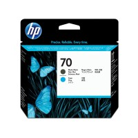 HP No. 70 Ink Printhead - Matte Black & Cyan