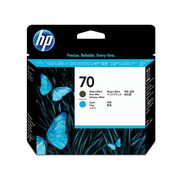 HP No. 70 Ink Printhead - Matte Black & Cyan
