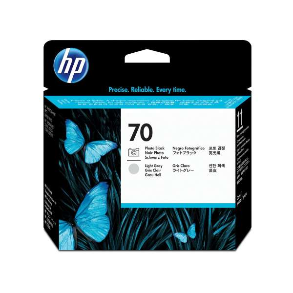HP No. 70 Ink Printhead - Photo Black & Light Grey