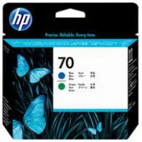HP No. 70 Ink Printhead - Blue & Green