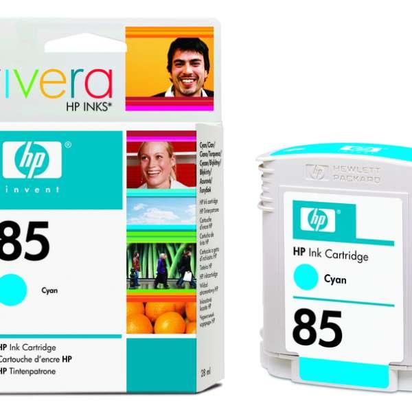 HP No. 85 Ink Cartridge Cyan - 28ml