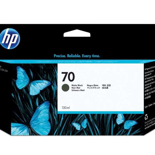 HP No. 70 Ink Cartridge Matte Black - 130ml