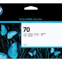 HP No. 70 Ink Cartridge Light Grey - 130ml