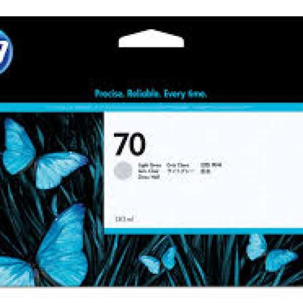 HP No. 70 Ink Cartridge Light Grey - 130ml