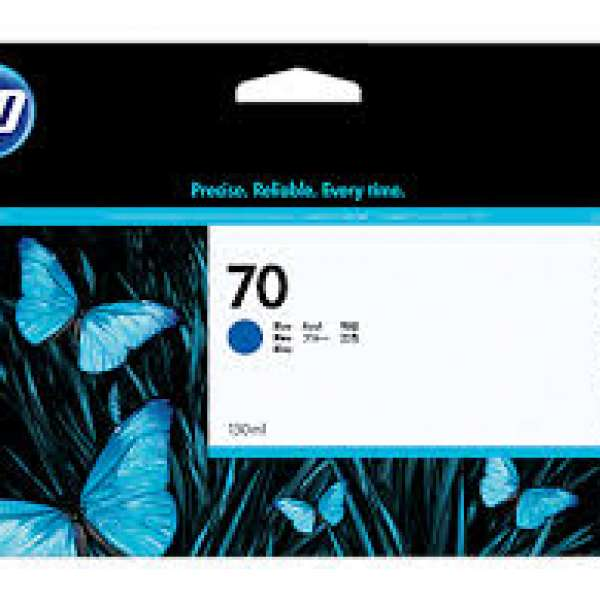 HP No. 70 Ink Cartridge Blue - 130ml
