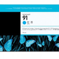 HP No. 91 Cyan Ink Cartridge 775ml