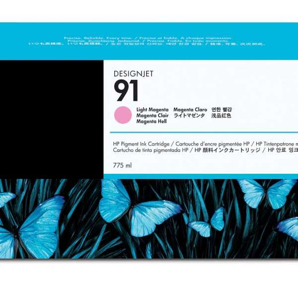 HP No. 91 Light Magenta Ink Cartridge 775ml