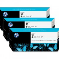 HP No. 91 Matte Black - 775ml tripple pack