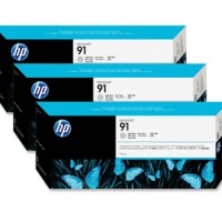 HP No. 91 Light Grey - 775ml tripple pack