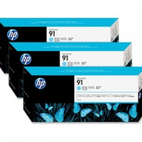 HP No. 91 Light Cyan Pigment Ink - 775ml tripple pack