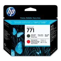 HP No. 771 Ink Printhead- Matte Black & Chromatic Red