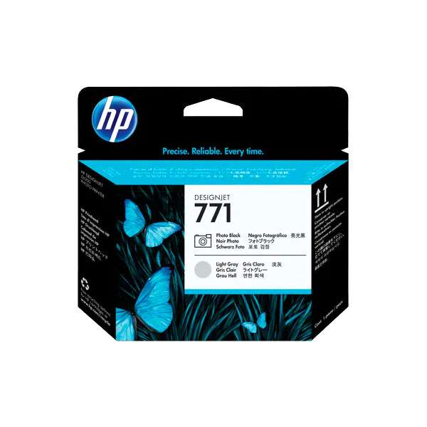 HP No. 771 Ink Printhead - Photo Black & Light Grey