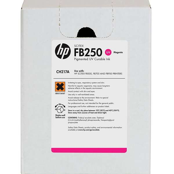 HP FB250 UV Curable Ink Magenta 3000ml