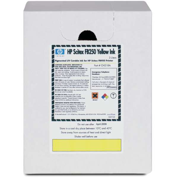 HP FB250 UV Curable Ink Yellow 3000ml