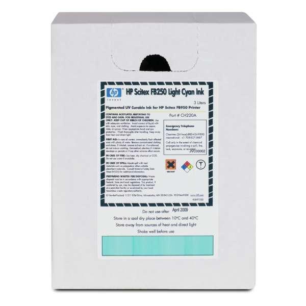 HP FB250 UV Curable Ink Light Cyan 3000ml