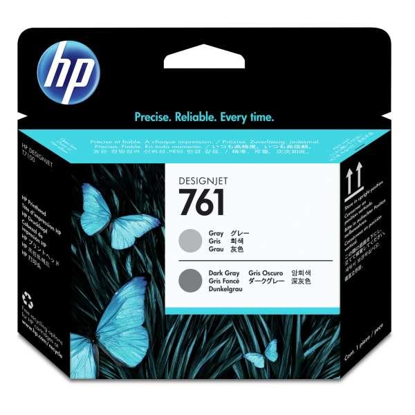 HP No. 761 Ink Printhead - Grey and Dark Grey