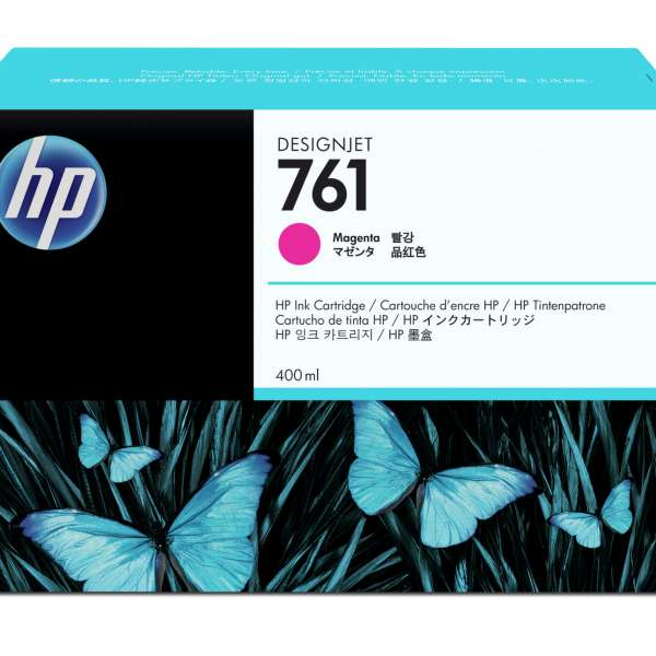 HP No. 761 Ink Cartridge - Magenta - 400ml