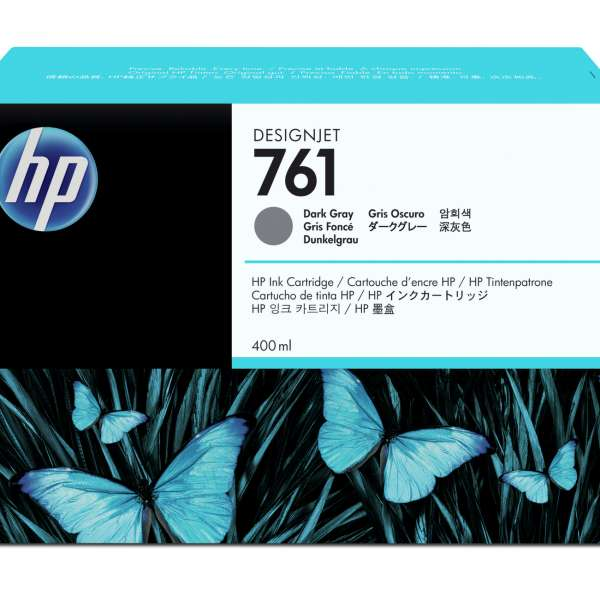 HP No. 761 Ink Cartridge - Dark Grey - 400ml