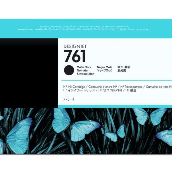 HP No. 761 Ink Cartridge - Matte Black - 775ml