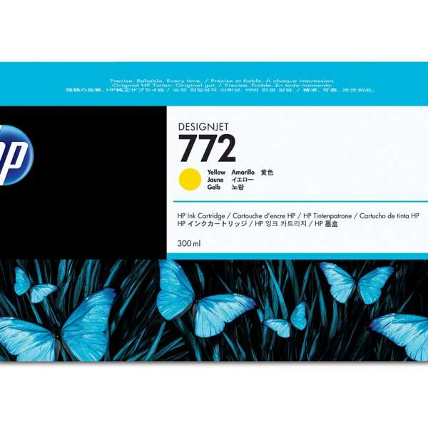 HP No. 772 Ink Cartridge Yellow - 300ml