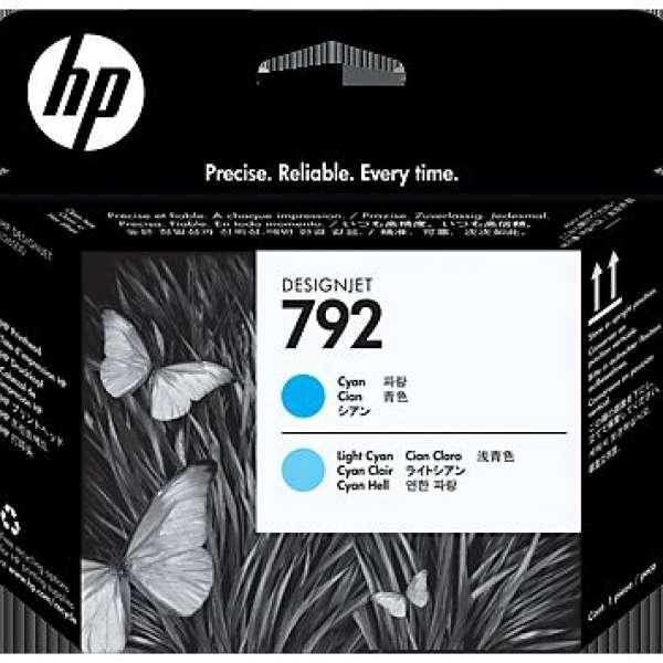 HP No. 792 Cyan & Light Cyan Printhead