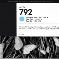 HP No. 792 Latex Ink Cartridge 775ml Light Cyan
