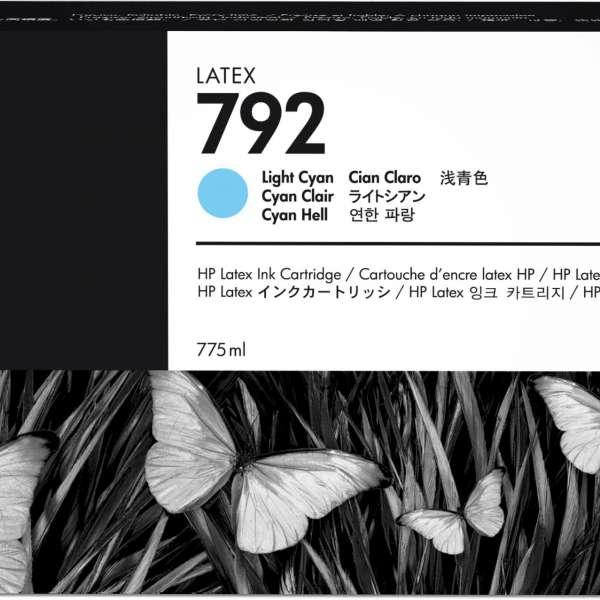 HP No. 792 Latex Ink Cartridge 775ml Light Cyan