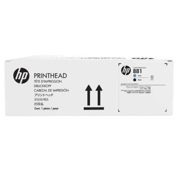 HP No. 881 Cyan and Black Printhead