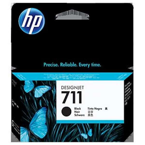 HP No. 711 Black Ink Cartridge - 38ml