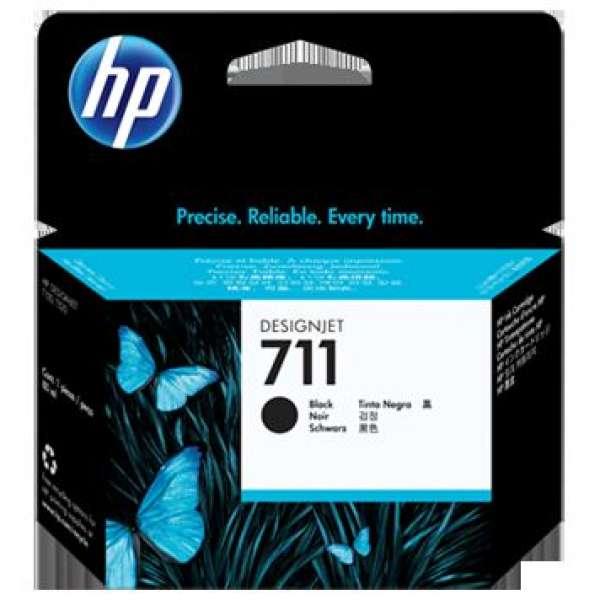 HP No. 711 Black Ink Cartridge - 80ml