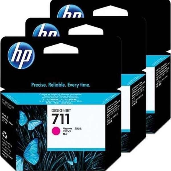 HP No. 711 Triple pack Magenta  - 29ml