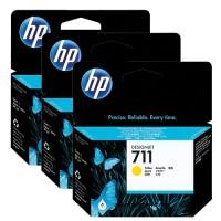HP No. 711 Triple pack Yellow  - 29ml