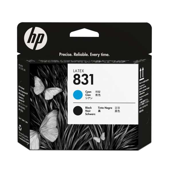 HP No. 831 Cyan and Black Printhead