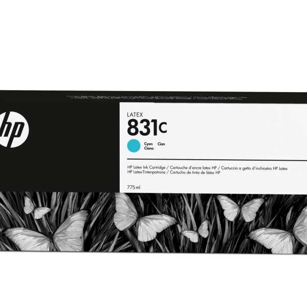 HP No. 831C Latex Ink Cartridge Cyan - 775ml