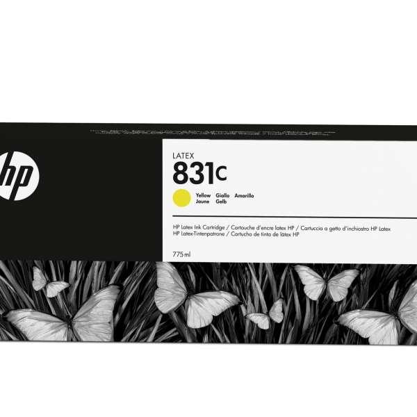 HP No. 831C Latex Ink Cartridge Yellow - 775ml