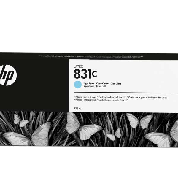 HP No. 831C Latex Ink Cartridge Light Cyan - 775ml