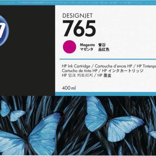 HP No. 765 Ink Cartridge - Magenta - 400ml