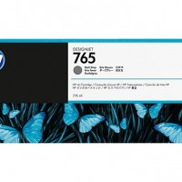 HP No. 765 Ink Cartridge - Dark Grey - 775ml