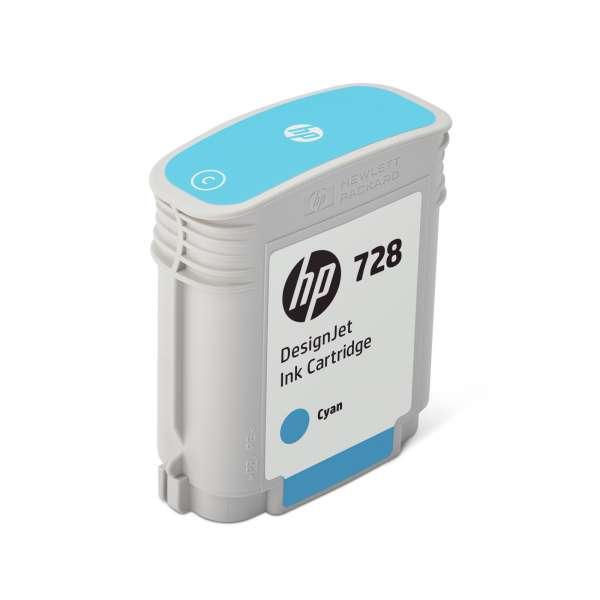 HP No. 728 Ink Cartridge Cyan - 40ml