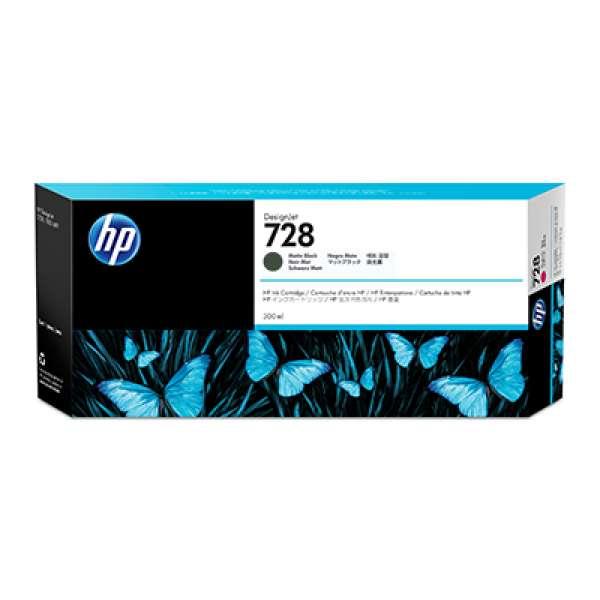 HP No. 728 Ink Cartridge Matte Black - 300ml