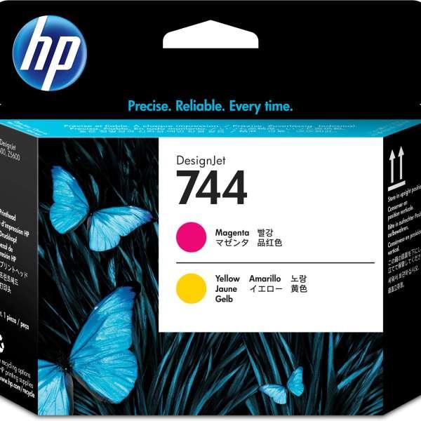 HP No. 744 Ink Printhead - Magenta & Yellow