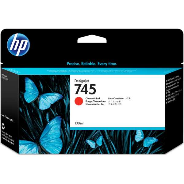 HP No. 745 Ink Cartridge Chromatic Red - 130ml