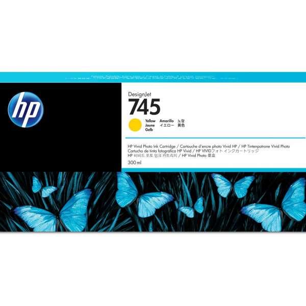 HP No. 745 Ink Cartridge Yellow - 300ml