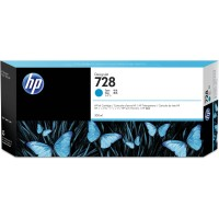 HP No. 728 300ml Cyan Designjet Ink Cartridge