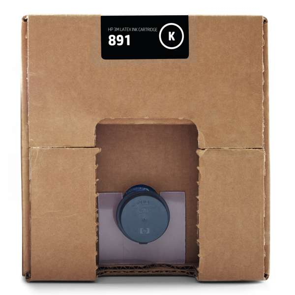 HP No. 891 Latex Ink Cartridge Black 10,000ml