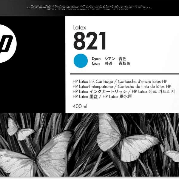 HP No. 821 Latex Ink Cartridge Cyan - 400ml