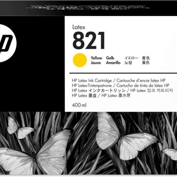 HP No. 821 Latex Ink Cartridge Yellow - 400ml