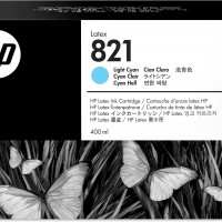 HP No. 821 Latex Ink Cartridge Light Cyan - 400ml